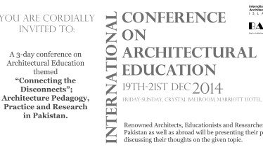 BAE-IAP International Conference on ARCHITECTURAL EDUCATION