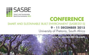 Conference - Smart and Sustainable Built Environment (SASBE 2015)