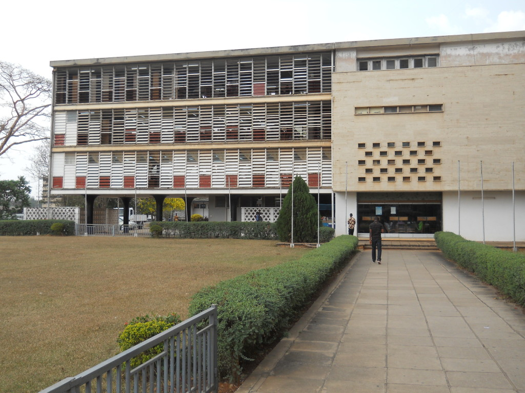 External view of the Library at Kwame Nkrumah University of Science and Technology (KNUST) Kumasi, Ghana, original designed by British architect James Cubitt