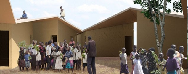Uganda,-Architects-Koji-Tsutsui-Architect-and-Associates,-Annular-Orphanage
