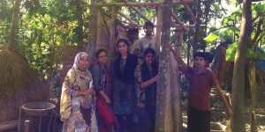 Students of the Department of Architecture of North South University, Dhaka including Fariha Yasmin Faruque